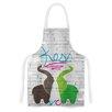 KESS InHouse Elephants by KESS Original Artistic Apron