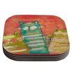 KESS InHouse Gatos Cat Coaster (Set of 4)