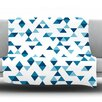 KESS InHouse Triangles by Project M Fleece Throw Blanket