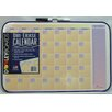 Dooley Boards Inc Assorted Designs Calendar Dry Erase Wall Mounted Graphic/Grid Whiteboard, 1' x 1'