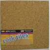 Dooley Boards Inc Cork Tile Wall Mounted Bulletin Board, 1' x 1' (Set of 4)