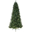 Jolly Workshop 8' Green Eastwood Fir Slim Artificial Christmas Tree with 750 Clear Lights and Metal Stand