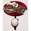Charleston Knob Company American Eagle Glass Inlay Hook
