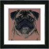 "Studio Works Modern ""Pug Dog"" by Zhee Singer Framed Fine Art Giclee Painting Print"
