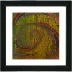 "Studio Works Modern ""Hybrid History - Orange Green"" by Zhee Singer Framed Fine Art Giclee Painting Print"