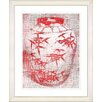 "Studio Works Modern ""Bamboo Urn - Red"" by Zhee Singer Framed Fine Art Giclee Painting Print"