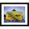 """Studio Works Modern """"Yellow Beach House"""" by Mia Singer Framed Fine Art Giclee Photographic Painting Print"""