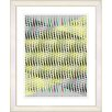 "Studio Works Modern ""Pastel Placidus - Yellow"" by Zhee Singer Framed Fine Art Giclee Painting Print"