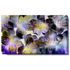 """Studio Works Modern """"Black and White Tiger Flowers"""" Gallery Wrapped by Zhee Singer Painting Print on Canvas"""