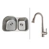 """Ruvati 31.5""""  x 20.75"""" Kitchen Sink with Faucet"""