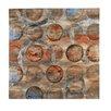 Bombay Bronze Circles Painting Print on Canvas