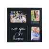 Melannco 3-Openng 'With You I'm Home' Wall Collage Frame