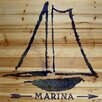 Marmont Hill Marina Graphic Art on Wood Planks in Natural