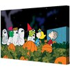 """Marmont Hill """"Peanut Gang Trick or Treating"""" Peanuts by Charles M. Shultz Graphic Art on Canvas"""