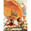 Marmont Hill Card Game at the Beach by Alex Ross Painting Print on Wrapped Canvas