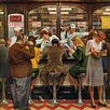 Marmont Hill Lunch Counter by John Falter Painting Print on Wrapped Canvas