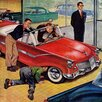 Marmont Hill Automobile Showroom by Amos Sewell Painting Print on Wrapped Canvas