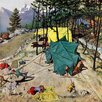 Marmont Hill Making Camp by Thornton Utz Painting Print on Wrapped Canvas