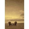 Marmont Hill Two Beach Chairs Painting Print on Wrapped Canvas