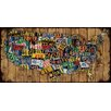 Marmont Hill Classic Plates Painting Print on Wrapped Canvas