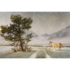 Marmont Hill Lonely Horse by Chris Vest Painting Print on Wrapped Canvas