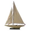Handcrafted Nautical Decor Rustic Intrepid Model Yacht