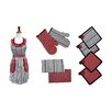 Colonial Textiles PCT 9 Piece Apron Set