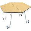 Palmer Hamilton Mobile Folding Cafeteria Hexagon Table