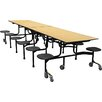 Palmer Hamilton Mobile Folding Cafeteria 12 Stool Table