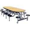 Palmer Hamilton Mobile Folding Cafeteria Elongated 12 Stool Table