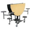 Palmer Hamilton Mobile Folding Cafeteria Shaped Table with Surround Seating