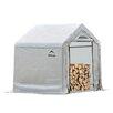 ShelterLogic 3' W x 5' D Polyethylene Firewood Storage Shed