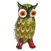"Badash Crystal 8"" Glass Owl Stand Figurine"