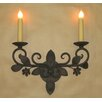 Laura Lee Designs Floral Double Wall Sconce