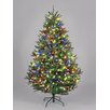 Hometime Snowtime 6.6'  Green Pre-Lit Boston Spruce Artificial Christmas Tree with 700 Color LEDs