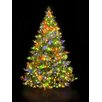Hometime Snowtime 6.6' Green Pre-Lit Alaskan Spruce Artificial Christmas Tree with 350 Color Lights