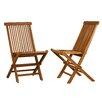 Cortesi Home Vega Folding Dining Side Chair (Set of 2)