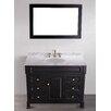 """Bosconi Contemporary 43"""" Single Bathroom Vanity Set with Mirror"""