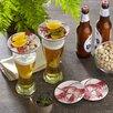 """Boston International Lobster 4"""" Melamine Wine Glass TidBit Topper Plate (Set of 4)"""