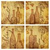 Thirstystone 4 Piece Aged Wine Occasions Coasters Set