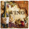 Thirstystone Ambiance Vino Travertine Coaster Set (Set of 4)