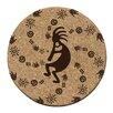 Thirstystone Koko Petroglyphs Cork Coaster Set (Set of 6)