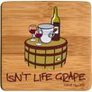 Thirstystone Isn't Life Grape Bamboo Coaster (Set of 4)