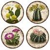 Thirstystone 4 Piece Cactus Flowers Coaster Set