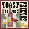 Thirstystone Toast to Good Friends Occasions Coasters Set (Set of 4)