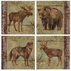 Thirstystone 4 Piece Northern Wildlife Occasions Coasters Set