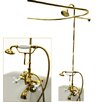 Kingston Brass Vintage Double Handle Wall Mount Clawfoot Tub Package