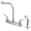Kingston Brass Yosemite Two Handle Center Set Kitchen Faucet