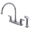 Kingston Brass Double Handle Centerset Kitchen Faucet with Side Sprayer