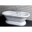 "Kingston Brass Aqua Eden 67"" x 31.5"" Pedestal Double Bathtub"